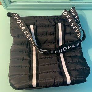 """SEPHORA Quilted """"Puffer"""" Tote with Adjustable Crossbody Strap"""